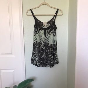 UO Green and Brown Patterned Tank